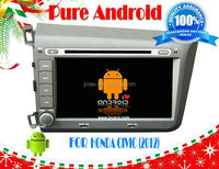 Android 4.2 car audio DVD navigation system for HONDA CIVIC left 2012 RDS,Telephone book,AUX IN,GPS,WIFI,3G,Built-in wifi dongle