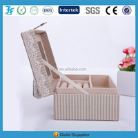 2015 Cheap Price Simple Design Fabric Jewelry Box