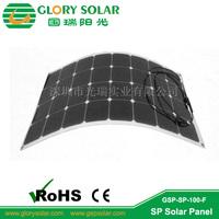 professional sunpower marine flexible solar panel 100W manufacture