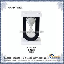 home & office decoration alphabet U sand timer 5 MIN Hourglass STW1301U