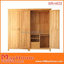 new design oak wood bedroom wardrobe with trousers rack