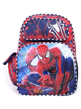 """Amazing Spiderman Large School Backpack 16"""" Boys Book Bag -Double Face"""