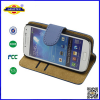Book Style Stand PU Leather Case Cover For Samsung I9190 Galaxy S4 mini--Laudtec