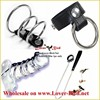 Male Chastity Device Stainless Steel Bondage Cock Cage 40mm 45mm 50mm Ring Optional Bird Cage Lock Adult Sex Dolls Toys