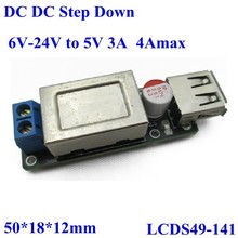dc dc step down converter 6-24v to 5v 3A 4A max USB mobile phone pcb circuit board support Iphone for car,vechile,etc