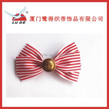 2015 hot sale ribbon hair bow with barrette for girls decoration