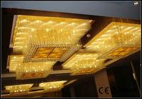 hotel luxury crystal led ceiling light