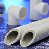 Biclolor polypropylene ppr water pipe and fittings with 5 colors comply with standard GB/T 18742