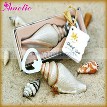 A0574 With Thank You Tag Sea Shell Wedding Bottle Openers Favors