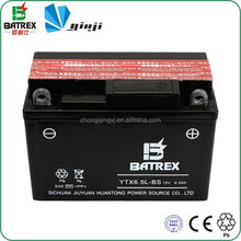 12v Battery Lead Acid Battery For Loncin 125cc Motorcycle YTX6.5L-BS
