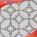 PT01 Shite e prata vidro mosiac forma regular 3d imagens