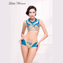 Custom high-end fashion women's bra and panty from alibaba spain