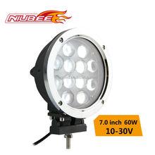round shape car led work light 60w 12v