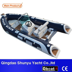 2015 hot selling ORCA hypalon material fiberglass rib boat with CE