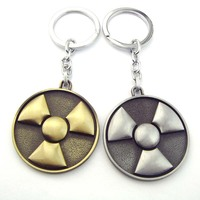 Avengers Hulk Nuclear radiation Logo Silver Metal Key chain ring K-291