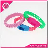 Best selling items craft silicon slap bracelet mobile phone