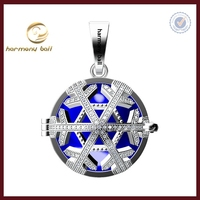 CYQ0027 Newest design christmas jewelry gift white crystal snow flake mexican bola harmony ball angel caller