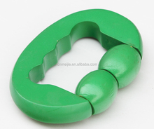 wood massager/two beads wood massager green blue yellow red