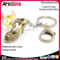Hand made cheap key chain shoe shape