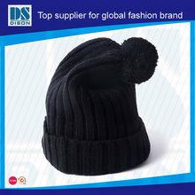 Custom Background White Label Pom Beanie Hat / Hotselling Moda Estilo Rasta sombrero que hace punto