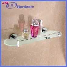 Good quality oval shape modern tempered glass wall shelves
