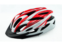 Out molded foam bicycle helmet