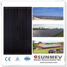 Cheapest full black poly solar module 250W with 25 years product warranty