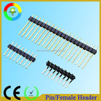 Through-hole/SMT gold-plated pin header 1.27mm