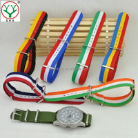 Middle and High Quality Custom 18 20 22 24mm Width 1.2 1.5mmThick Nylon Strap Wholesale