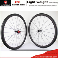 New product Miracle brand high stiffness material 700c cycling carbon road wheels U-38T 12k