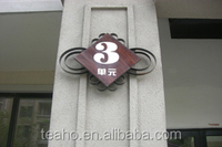 top high quality wooden water proofing square house number doorplates