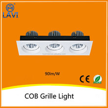 china top ten selling products Epistar 15W*3 cob grille light with 2 years warranty
