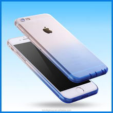 4.7 inch mobile case for Apple Iphone 6 6S gradual change soft TPU mobile phone case