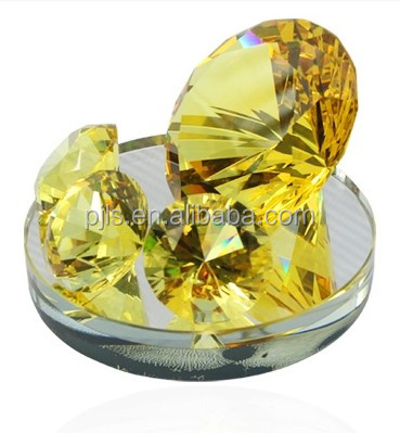 Crystal Diamond Paperewights Sandblasting with Gift Box 10-150mm Machine Cut