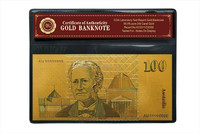 Cheap good quality Colored Old Australian 20 Dollar old aud Banknote, 24k Gold Banknote Plated In 999999 Gold With PVC Frame