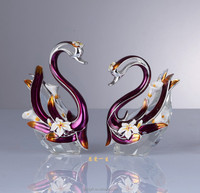 unique design flower colored swan for decoration gifts
