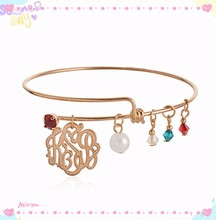2015 Alex and Ani Bangle Charm Expandable Wire Bangle Charm new product silver jewelry AX-162