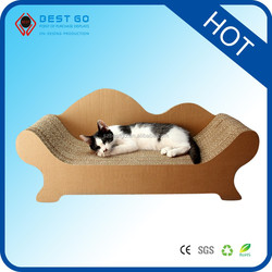 Hot Selling Cheap Corrugated Cardboard Cat Scratcher with Catnip sleeping cat toy