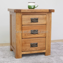 Modern and brief design wooden nightstand wholesale rustic reclaimed wood furniture