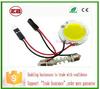 led car dome light festoon COB Round Reading light with T10 feston adapter,led car interior light