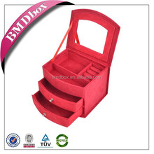 made in China custom jewelry bags wholesale cheap faux suede jewelry box