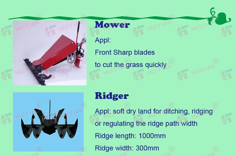 Mower and ridger