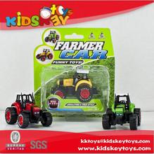 Pull back diecast model car farm car toys toys farmer tractor