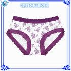 Personalizado adolescentes Hipster Panty Crianças Calcinhas Sexy Lace transparente Bra & Panty Define Hipster Calcinhas