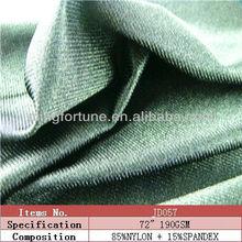 black shiny nylon/spandex soft super stretchable lycra fabric