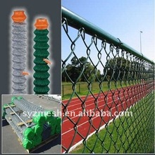 garden and shool pvc coated roll chain link fence