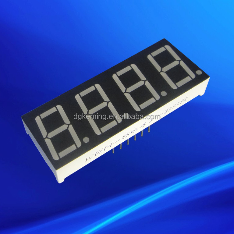 Red 0.5641inch four 4 quad digit led clock circuit board
