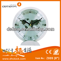hot sell desk clock with map