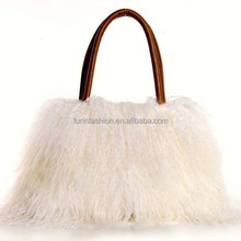 New Stylish Hot Selling Mongolian Lamb Fur Shoulder Bag for Luxurious Women with Competive Price Fur Bag