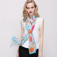 Long Style of Length and Plain Dyed Pattern 100% silk scarf shawl